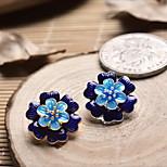 DIY Jewelry Blue Flower Style Charm