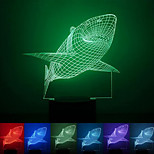 Shark Creative Colorful USB 3D Led Night Light