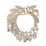 Fashion Hot Sale Gold Rhinestone Garland Flower Bouquet Brooches for Women