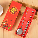 Upscale Married Favor Small Gifts Small Gifts Promotions Stainless Steel Cutlery Set Spoon Chopsticks Cartridge Love