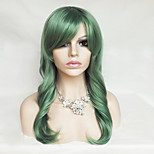 Color Cosplay Wig Green 26 Inch High Temperature Curly Hair Silk Wig