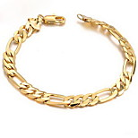 Men's 18k Gold Chain Bracelet with Dragon