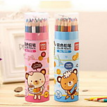 Deli 7015 Color Pencil Cartoon Children'S Painting Barreled 36 Color Pencils Set