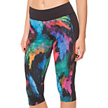 Running 3/4 Tights / Bottoms Women's Breathable / Quick Dry / Stretch Yoga / Running Sports High Elasticity Tight
