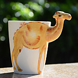 1Pc 400Ml 3D  Cartoon Animal Hand-Painted Ceramic Cup Coffee Milk Mug Random Color