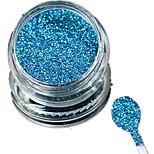 1 Bottle Nail Art Laser Sky-blue Glitter Shining Powder Manicure Makeup Decoration Nail Beauty L16