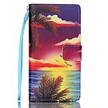 EFORCASE® Hawaii Painted Lanyard PU Phone Case for Huawei P8lite