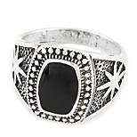 Men's European Style Simple Fashion Retro Punk Band Rings