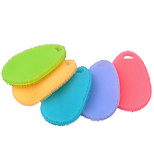 Multi-function Non Stick Oil Silicone Dish Washing Cleaning Brush Kitchen Tool(Random Color)