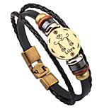 Men Black Fashionable Daily Strand Bracelets