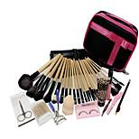 24 SET Makeup Brush Set Brush Colour Makeup Makeup Brush Sets + Professional Hairdressing Free Gift Set Make-Up Bag