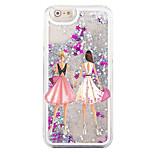 indietro Flowing Quicksand Liquido Other PC Difficile Fashion Girl Copertura di caso per Apple iPhone 6s/6