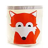 Cartoon Animal Storage Barrel Organic Cotton Hanging Bag Storage Box
