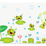 Kids Room Froggy Removable Wall Stickers Affixed Glass Tile Wall Stickers Cartoon Animal Stickers