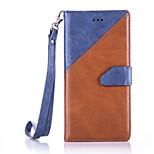 Full Body Card Holder / Wallet / with Stand Solid Color PU Leather Hard Case Cover For Huawei Huawei P9 / Huawei P9 Lite