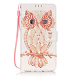 PU Leather Material 3D Painting Shell Owl Pattern Phone Case for Huawei P9 Lite