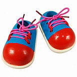 Shoelace Learning Wooden Shoe Toy
