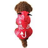Gatos / Perros Disfraces / Impermeable Rojo Invierno / Primavera/Otoño Animal / Halloween A Prueba de Agua / Cosplay / Halloween, Dog