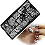 1pcs  New Nail Art Stamping Plates Colorful Image Templates Tools Nail Beauty XY-J14