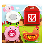 Cartoon Three-Dimensional Puzzle Building Block(Pig)