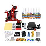 bobina de ferramentas de tatuagem máquina de equipamento do kit 7 pigmentos de cores especiais (cor do punho entrega aleatória)