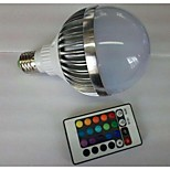 E27 85V-265V 700-900Lm 10W RGB Remote Control LED Colorful Bulbs