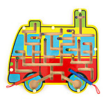 Magnetic Wooden Maze(Bus)