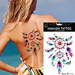 5/Pcs DIY Dream Catcher Feather Decal Women Body Art Waterproof Tattoo Sticker