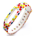 Wristband Bracelet Strap Replacement Parts For Mi band(Multicolored Waves)