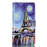 Para Funda Huawei / P9 / P9 Lite Cartera / Soporte de Coche / con Soporte / Flip Funda Cuerpo Entero Funda Torre Eiffel DuraCuero