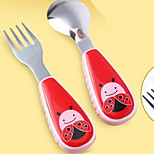Stainless Steel  Baby Fork and Spoon(Beetle)