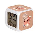 Cartoon Pet Colorful Luminous Alarm Clock-1#