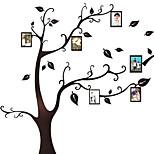 árvore preta quadro de parede folha