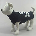 Cat / Dog Costume / Sweater Black Winter / Spring/Fall / Skulls Cosplay / Halloween, Dog Clothes / Dog Clothing