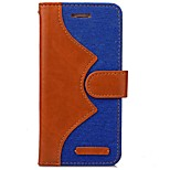 Denim Pattern PU Wallet Case for iPhone 6/6s/6 Plus/6S Plus(Assorted Colors)