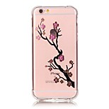 iPhone 7 Plus Shockproof Transparent Flower TPU Soft Bronzing Crafts Case Cover For iPhone 6s 6 Plus SE 5s 5