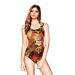 FuLang swim One-Piece Suits   Paige  Thin   sexy backless   fashion  Beauty printing SC100