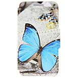 Kinston® Blue Butterfly Pattern PU Leather Full Body Cover with Stand for iPhone SE/5/5s/6/6s/6 Plus/6s Plus