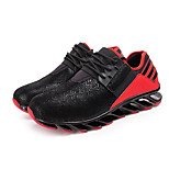 Black/Blue/Red Damping Rubber Running Shoes for Men