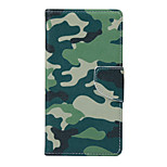 Camouflage Color Pattern PU Leather Full Body Case with Stand and Card Slot for Samsung Galaxy S6 Active