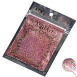 1pcs Nail Art Beautiful Color Pink Laser Glitter Powder Nail DIY Decoration L02