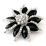 Bloom Style Alloy Rhinestone Brooches for Wedding