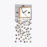DIY relógio espelho personalidade criativa sala de estar