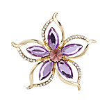 Fashion New Flower Acrylic Rhinestone Women Ladies Brooches for Wedding