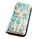 Inspired By Pocket Little Monster Leafeon Long 19cm PU Leather Wallet