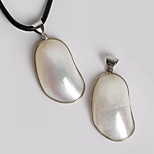 Beadia 26x55mm Natural Mother of Pearl Shell Pendants (1Pc)