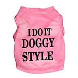 Gatti / Cani T-shirt Nero / Blu / Rosa Estate Floral / botanico Di tendenza-Pething®, Dog Clothes / Dog Clothing
