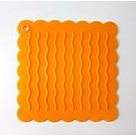 Continental Wavy Silicone Mat Insulation Pad Non-Slip Pad Coaster Hand Bags 5Pcs