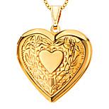 Pendants Metal Heart Shape Golden 50