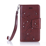 For BQ Aquaris M4.5 Luxury Retro Butterfly Diamonds embossed wallet Phone Cover With Stand Card Holder